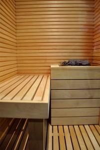 Christmas sauna bench