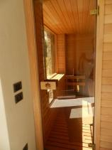 sauna porta vetro